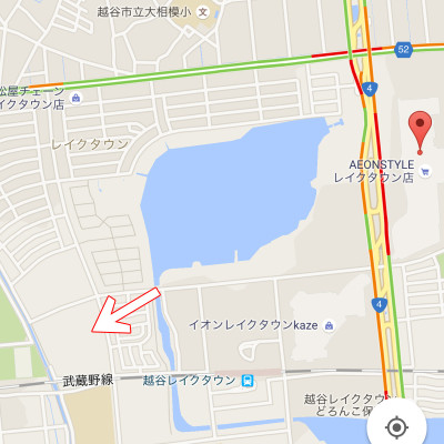 ケーズデンキ 越谷レイクタウン店 場所