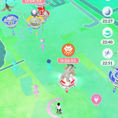 ポケモンGOの花の広場