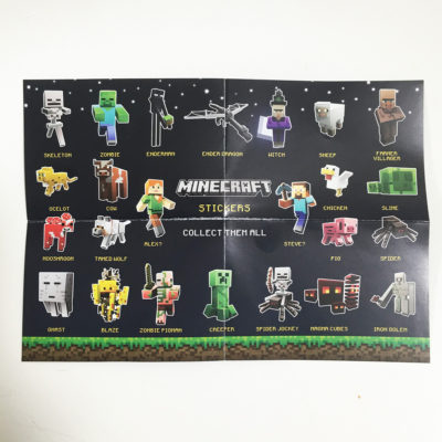 Minecraft Collectible Sticker Cards